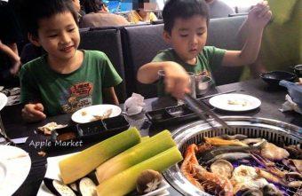可汗燒烤@雙人套餐燒烤肉多海味鮮 菜色豐富份量足 可以吃得無敵飽