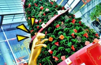 2015 12 05 152953 340x221 - 《台中聖誕景點》最貴氣的聖誕樹就在台中大遠百~名牌紅色包裝盒擺滿聖誕樹下~那一個是我的呀?!