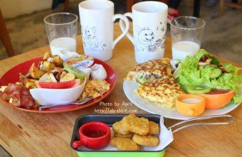 [台中]包旺家BOWWOW--早午餐非常豐盛,寵物友善餐廳,有可愛的店狗喔!@北屯區 漢口路 柳陽西街