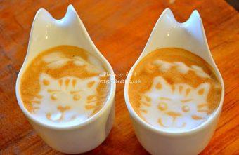 [台中]R星咖啡(R-star coffee)--野餐三明治盒配上熱拿鐵好吸睛,店內有好多可愛的貓咪!@忠明南路 西區