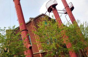 鍋爐間@88年歷史的純紅磚體建物 酒文化館鍋爐保存與藝術家創意展售專區 藝點點文創美學 臺中文化創意園區免費參觀