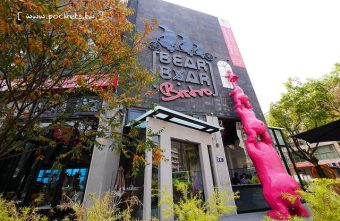33165102445 6f39f79ab3 z 340x221 - 熊吧餐酒館.Bearbar Bistro:台中超吸睛親子餐廳!!有沙坑、溜滑梯、遊戲室、閱讀室,屋外可愛的三隻粉紅色熊熊