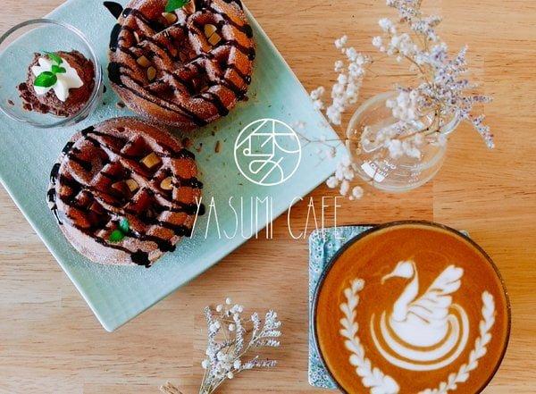 2017 11 07 112646 - Yasumi cafe│忠明南路上文青又可愛的氣質咖啡館,很適合一個人來,激推麻糬鬆餅,外酥內軟好好吃!
