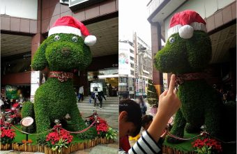 中友百貨聖誕小汪子|超萌聖誕狗 紅帽站崗超可愛 台中應景聖誕樹