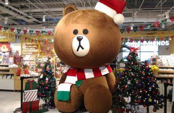 3米高巨型熊大聖誕裝扮來囉 呆萌可愛超討喜 LINE FRIENDS Store