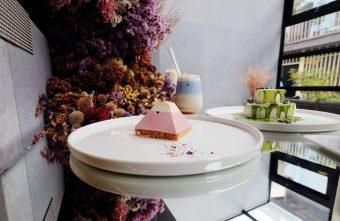 偷偷Toutou Cuisine-在精明商圈巷弄唯美玻璃屋乾燥花包圍.偷偷吃雙層心型夢幻抹茶和粉嫩金字塔甜點