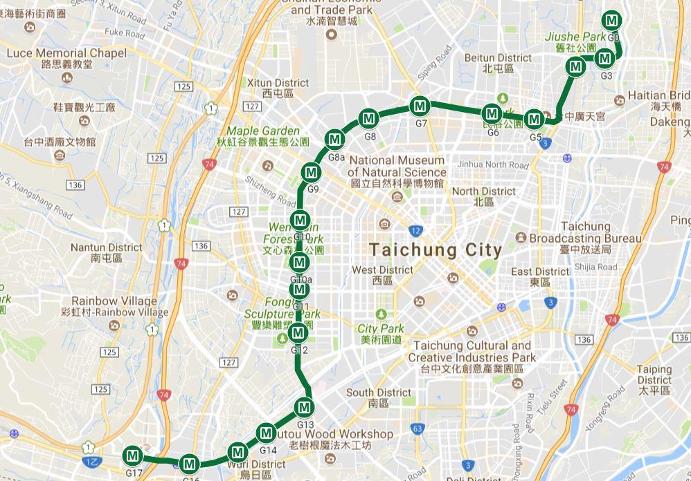 台中捷運綠線18個車站站名出爐