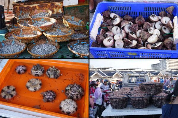 澎湖魚市場│早上6點過後很多海鮮都會沒了,價格便宜人潮多