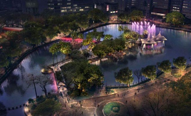 台中公園七夕換新裝,浪漫燈光秀今天點燈