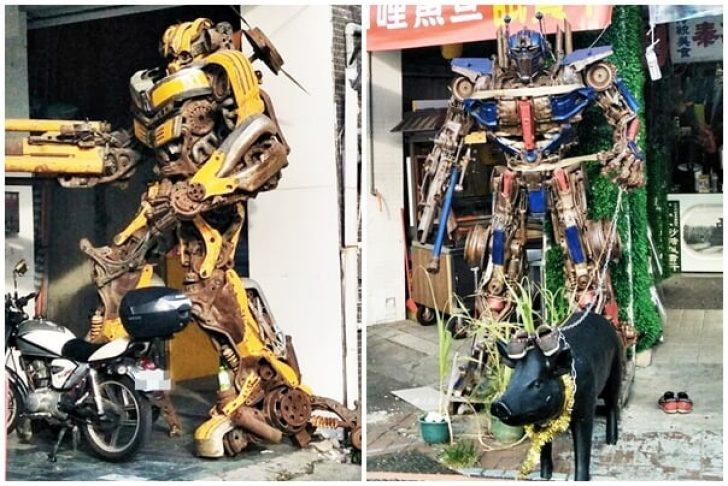 2018 09 14 140810 728x0 - 超酷!在台中街頭遇見變形金剛~廢鐵打造的酷炫柯博文和大黃蜂!