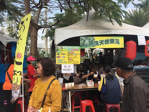 2018 12 03 231801 - 台中花博國際好農市集人潮爆多,用餐時刻便當超搶手