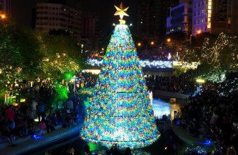 2018 12 11 104612 340x221 - 柳川水岸步道水上聖誕樹亮起來,最水聖誕樹是夢幻七彩顏色~