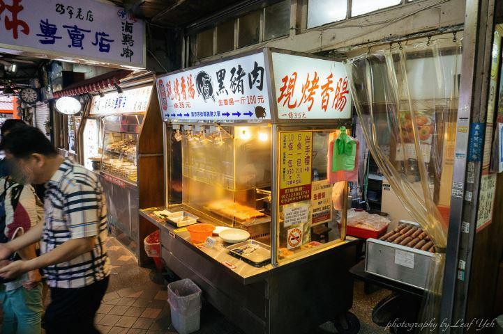 台北陳記專業蚵仔麵線搭配李家現烤黑豬肉香腸,萬華小吃這樣配也很妙