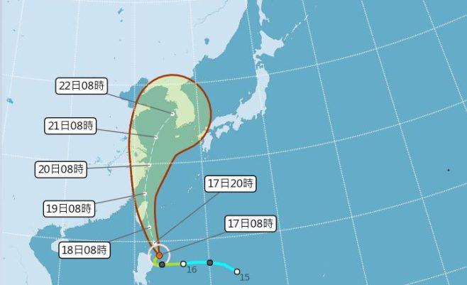 2019 07 17 094226 658x401 - 輕颱丹娜絲海警發布,全台10縣市發布高溫資訊,請民眾多注意