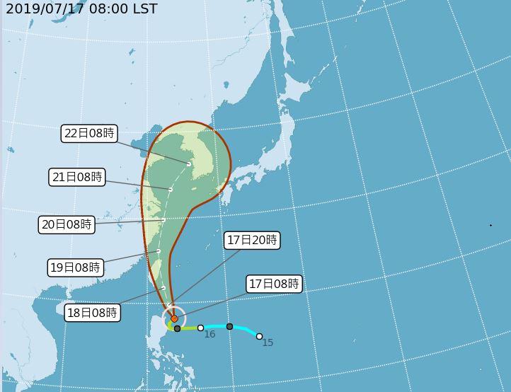 2019 07 17 094226 - 輕颱丹娜絲海警發布,全台10縣市發布高溫資訊,請民眾多注意